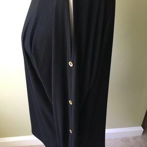 NWT Ellen Tracy tunic with peek-a-boo sleeves